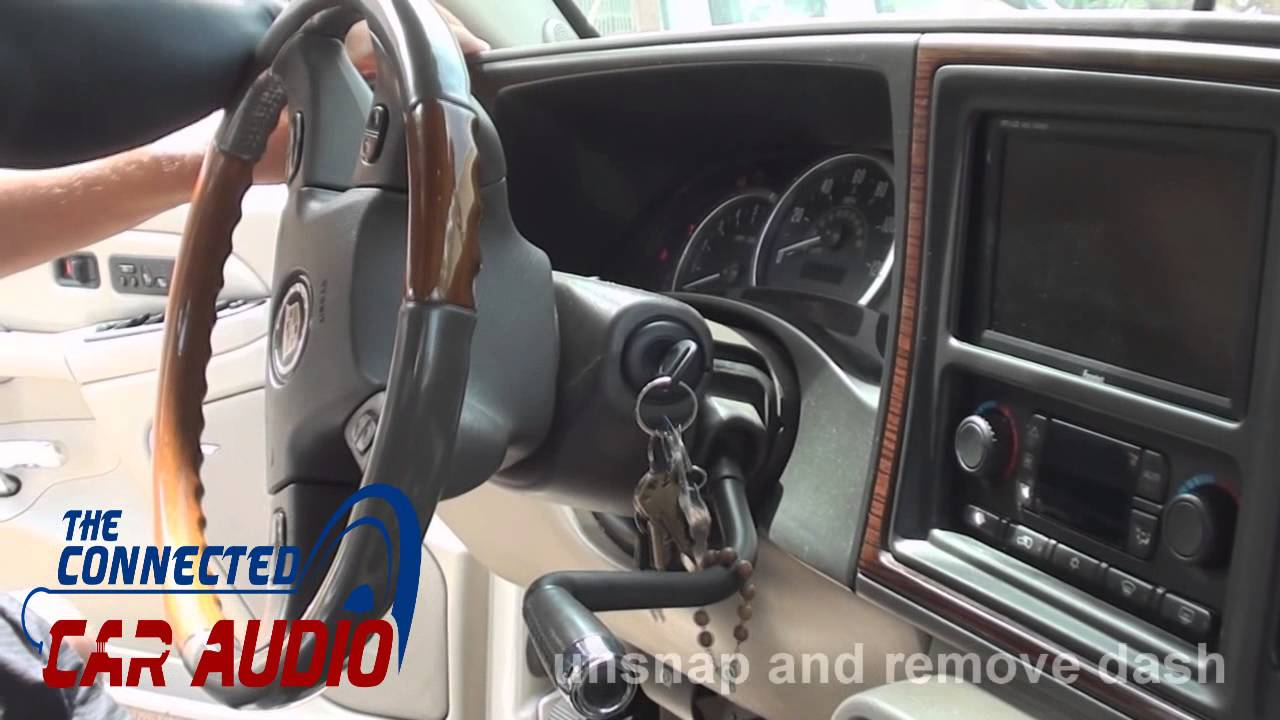 how to remove factory stereo Cadillac Escalade 2003 2004 ...