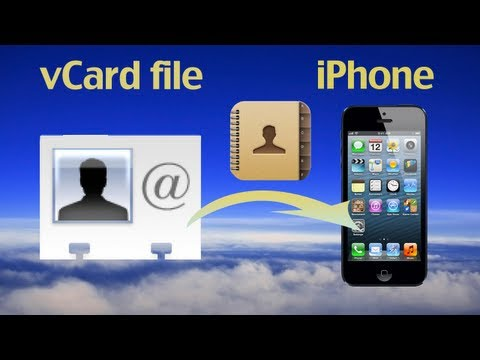How to import vCard contacts files to iPhone or export vCard contacts files to iPhone/iPod/iPad?