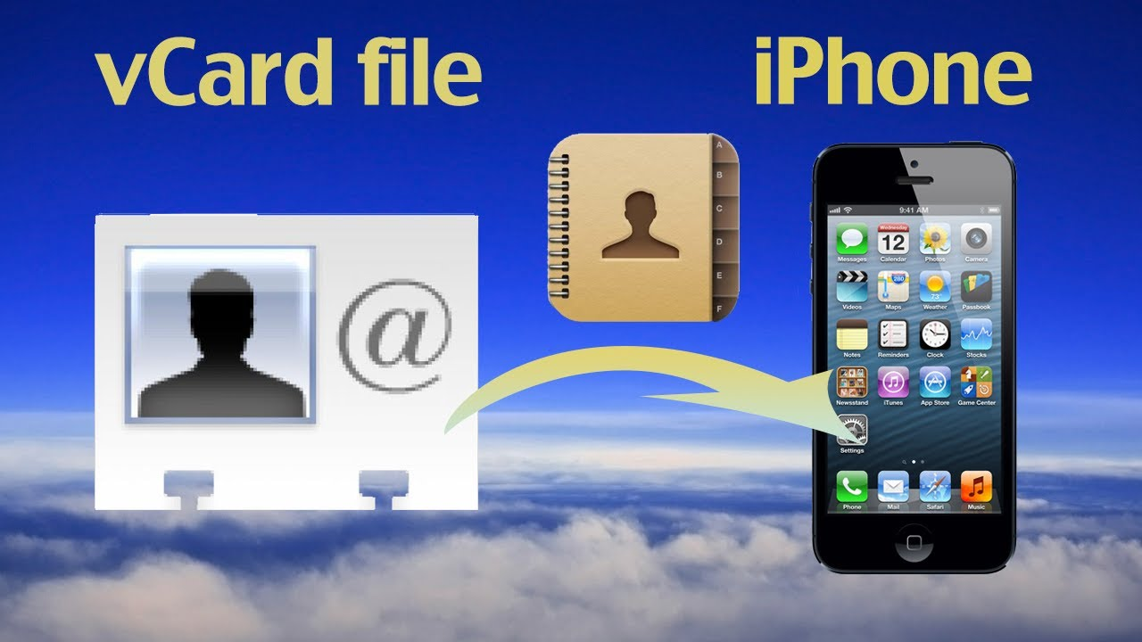 import vcf to iphone how to import vcard contacts files to iphone or export 7989