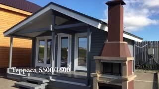 видео Дома и бани из бруса под ключ. Строительство домов из бруса недорого, цена. Построить дом дешево, проекты