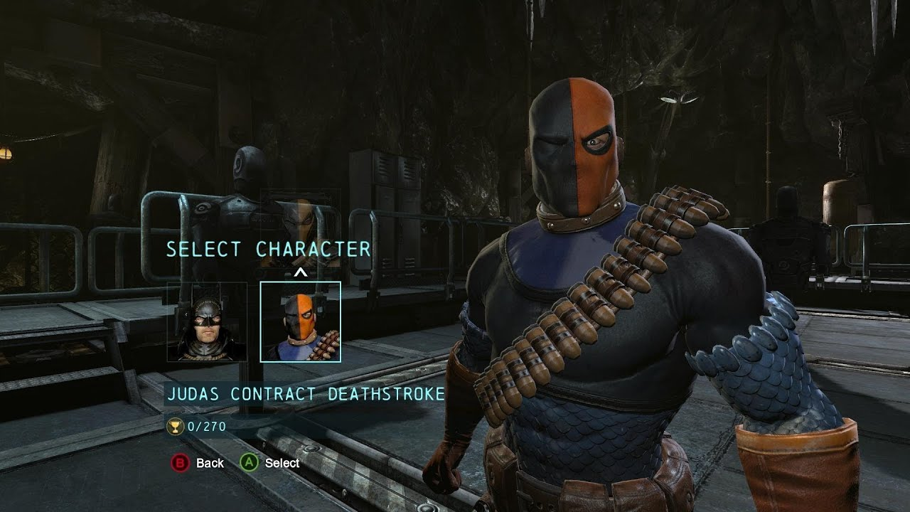batman arkham origins   judas contract deathstroke costume dlc gameplay