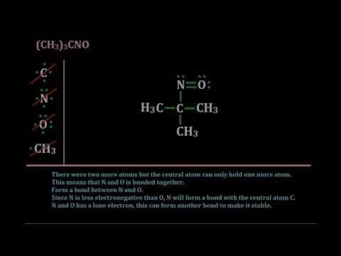 Lewis Structure of (CH3)3CNO - YouTube