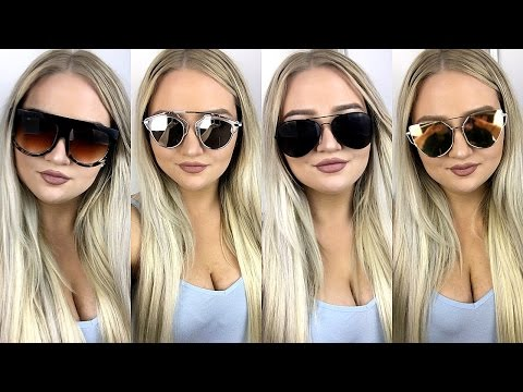 $1 eBay Sunglasses TRY ON Haul ♡ Tobie Jean