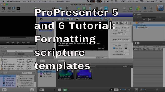 Propresenter lower third templates