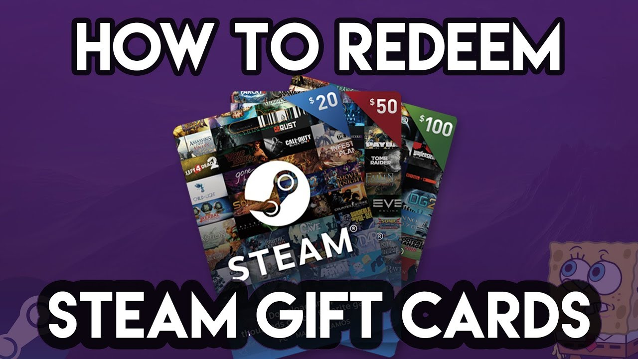 How to Redeem a Steam Gift Card - YouTube