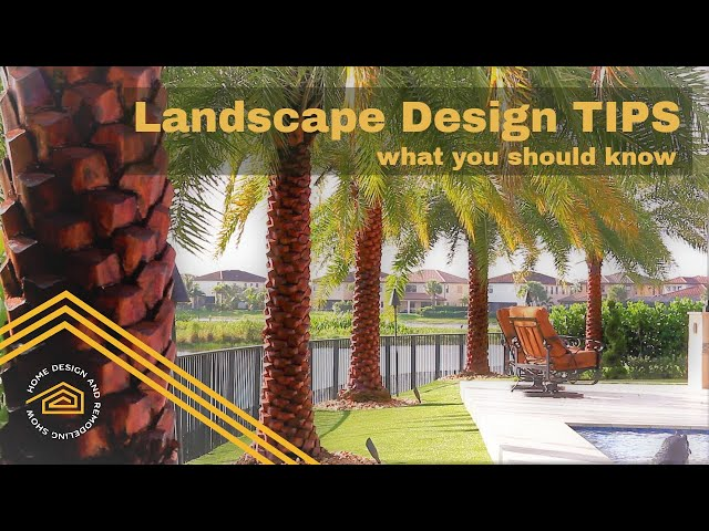 Landscape Design TIPS and What You Should Know About Artificial Turf