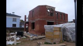 Строительство дома , кровля , Штукатурка фасада(, 2014-12-05T05:42:57.000Z)