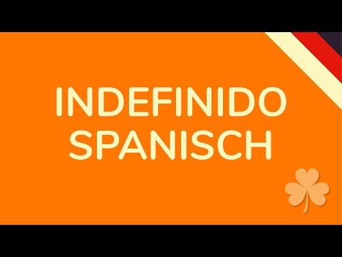 INDEFINIDO SPANISCH (animiert) 🇩🇪