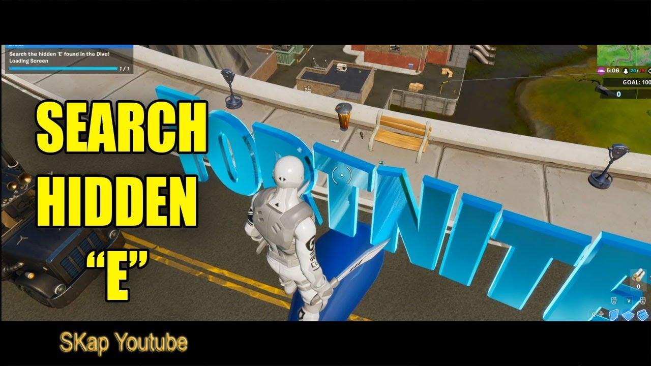 Fortnite Search Hidden E Found In The Dive Loading Screen
