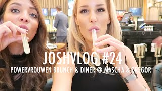 JOSHVLOG #24   FLES WIJN OPENEN MET EEN SCHOEN?!   Powervrouwen brunch & Diner @ Mascha & Gregor