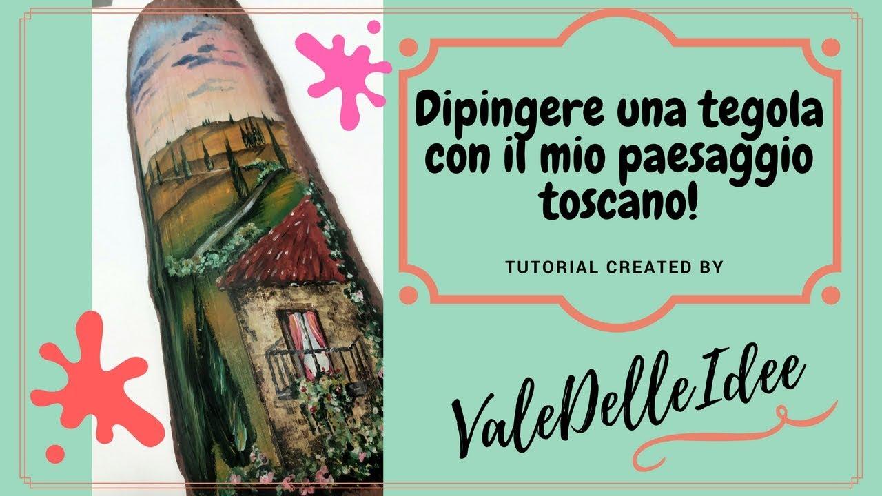 Come Dipingere Vecchie Tegole dipingere una tegola con colori acrilici. parte 1