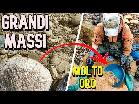 Come i massi concentrano l'oro - 4 - How the boulders concentrate gold