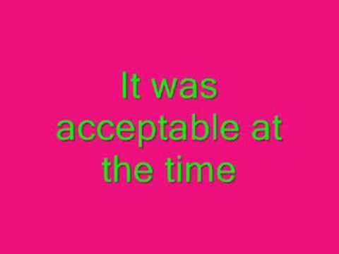 Calvin Harris -Acceptable in the 80's lyrics