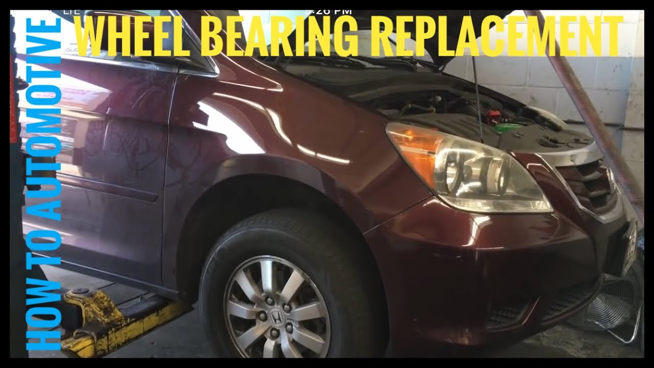 How To Replace The Front Wheel Bearings On A 2009 2010 Honda Odyssey 2011 Engine Diagram