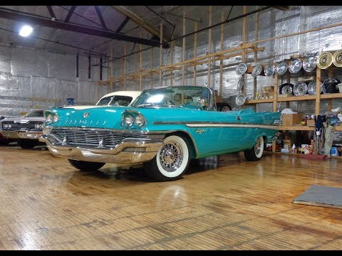 1957 Chrysler New Yorker Convertible in Turquoise & Engine