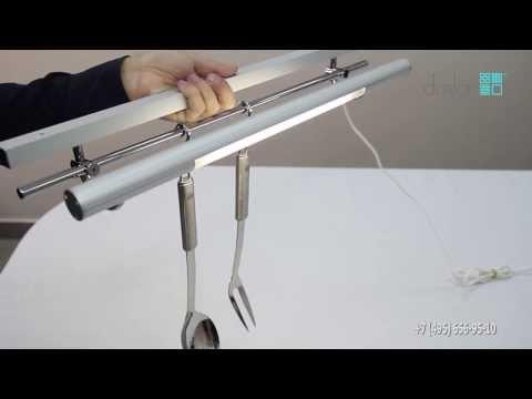 Светильник-рейлинг ORIZZONTE CU для рабочей области на кухне