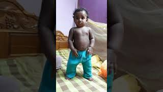 Funny baby try to off the clothes funny video 2018