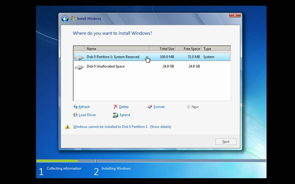 format laptop windows 7 professional
