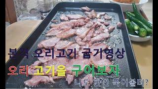 [초보유튜버] 오리고기 굽는 소리 [ 전기 뿌라이펜 ]…