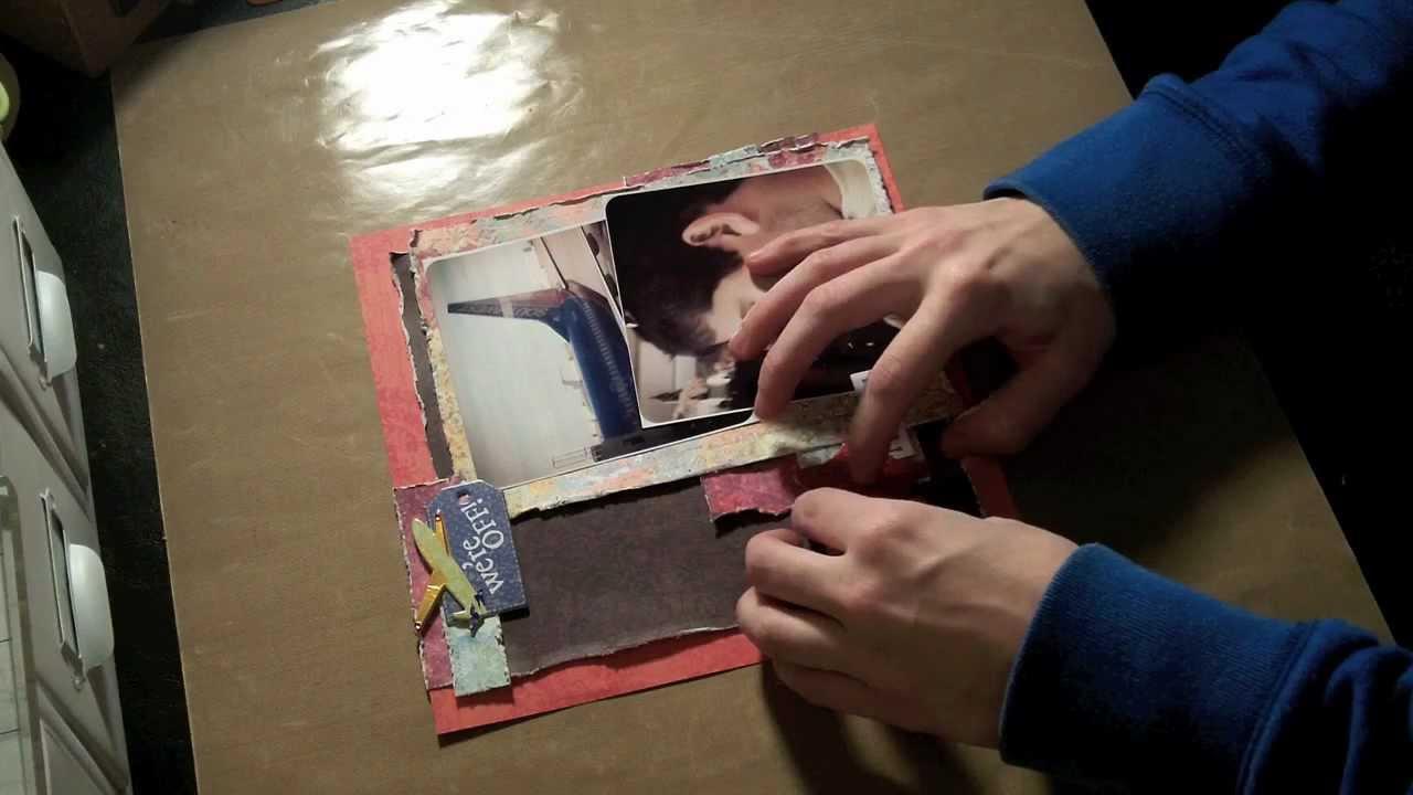 How to scrapbook 8x8 layouts - 8x8 Scrapbook Layout