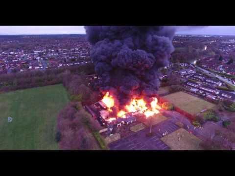 Bayleaf restaurant fire in Warrington