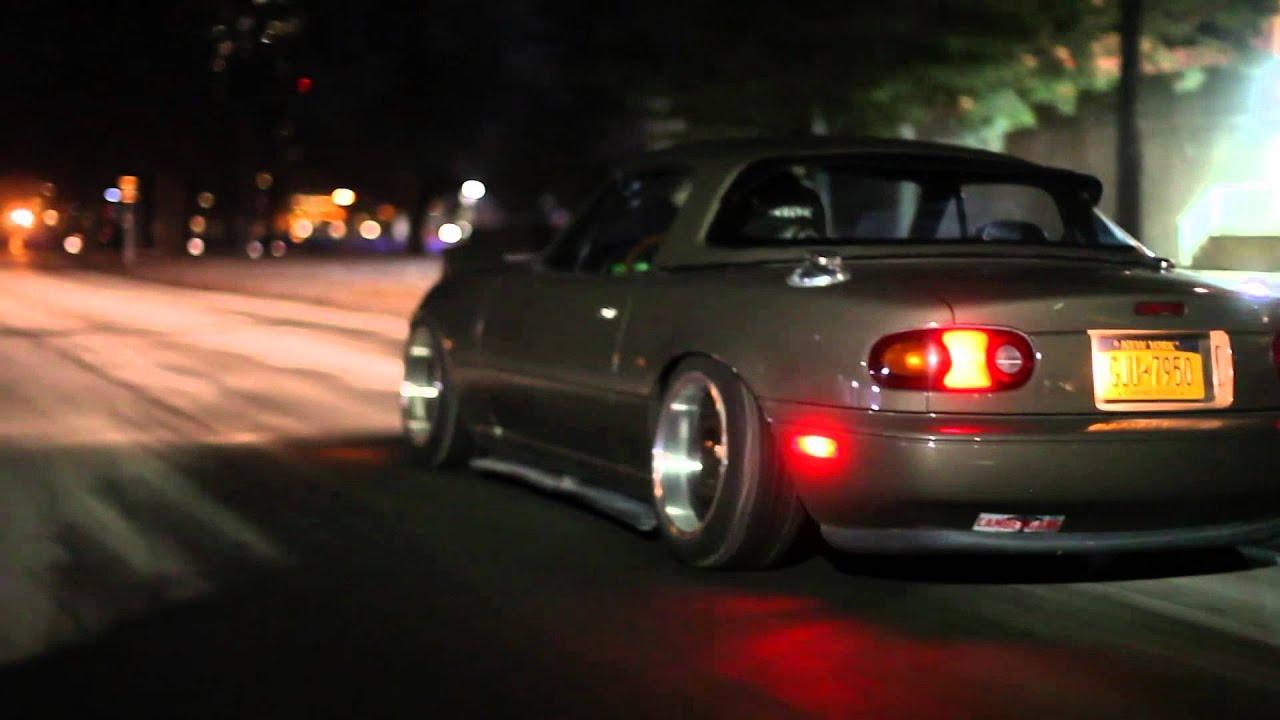 Mazda 3 Custom >> SLAMMED MAZADA MIATA :NIGHT BY DAY, DAY BY NIGHT: - YouTube