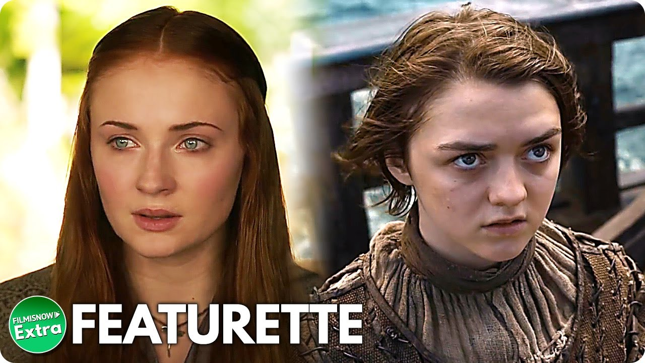 GAME OF THRONES (10th Anniversary)   Sophie Turner & Maisie Williams Featurette (HBO)