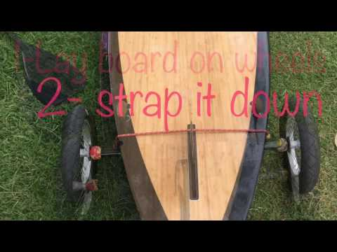 DIY Paddle board trailer