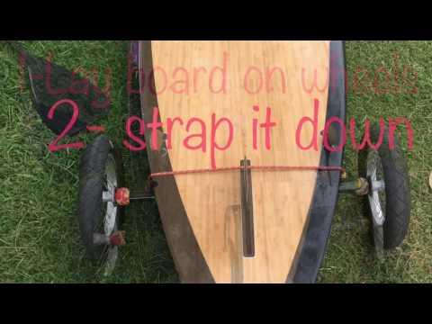 DIY Paddle board trailer