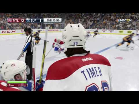 NHL 17 Be A Pro Ep3 Center Juan Timer with the Montreal Canadian 1st career game