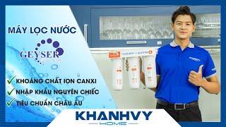 Máy lọc nước Geyser Ecotar 8 🌟 siêu phẩm nước khoáng ion canxi - Khánh Vy Home