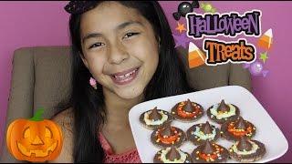 Easy Halloween Treats Hershey's Kisses Witches Hats|quick Simple Recipes|b2cutecupcakes