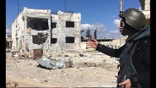 İdlib'de Sermin kasabası bombalandı, DHA ekibi o anları görüntüledi