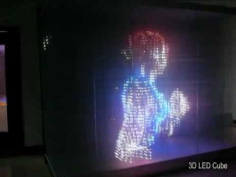 3D LED RGB Cube Laying Screen Fighting - YouTube