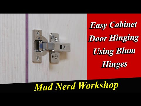 The Easy Way To Install Cabinet Doors Using Blum Hinges - Mad Nerd Workshop -