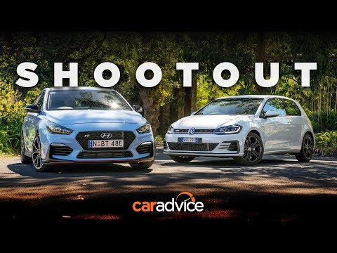 DRAG RACE Comparison i30 N v Golf GTI Hyundai v Volkswagen review