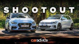 DRAG RACE Comparison i30 N v Golf GTI Hyundai v Volkswagen review