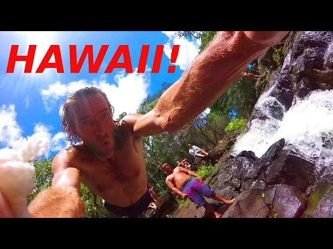 Hawaiian Waterfall Jungle Adventure! Hoopii Falls, Kauai