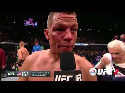 UFC 196: Nate Diaz and Conor McGregor Octagon Interview