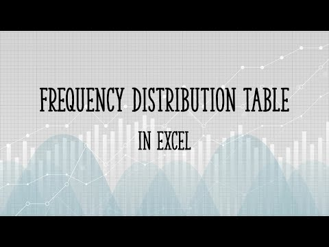 Frequency Distribution Table in Excel - Easy Steps