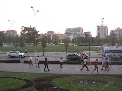Albania - Tirana - Skanderbeg square from the National Theatre of Opera and Ballet of Albania