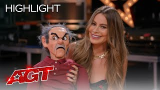 Darci Lynne Sees Sofia Vergara's Ventriloquism for the First Time! - America's Got Talent