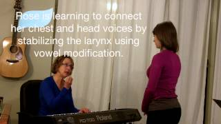 First singing lesson: connecting head and chest voice