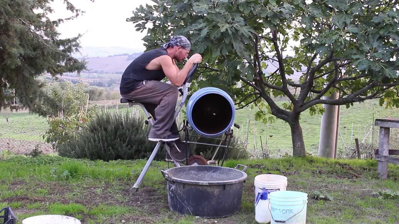 Homemade ecologic cement mixer to make seed balls for How to make cement at home