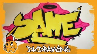 How to draw graffiti letters SAME