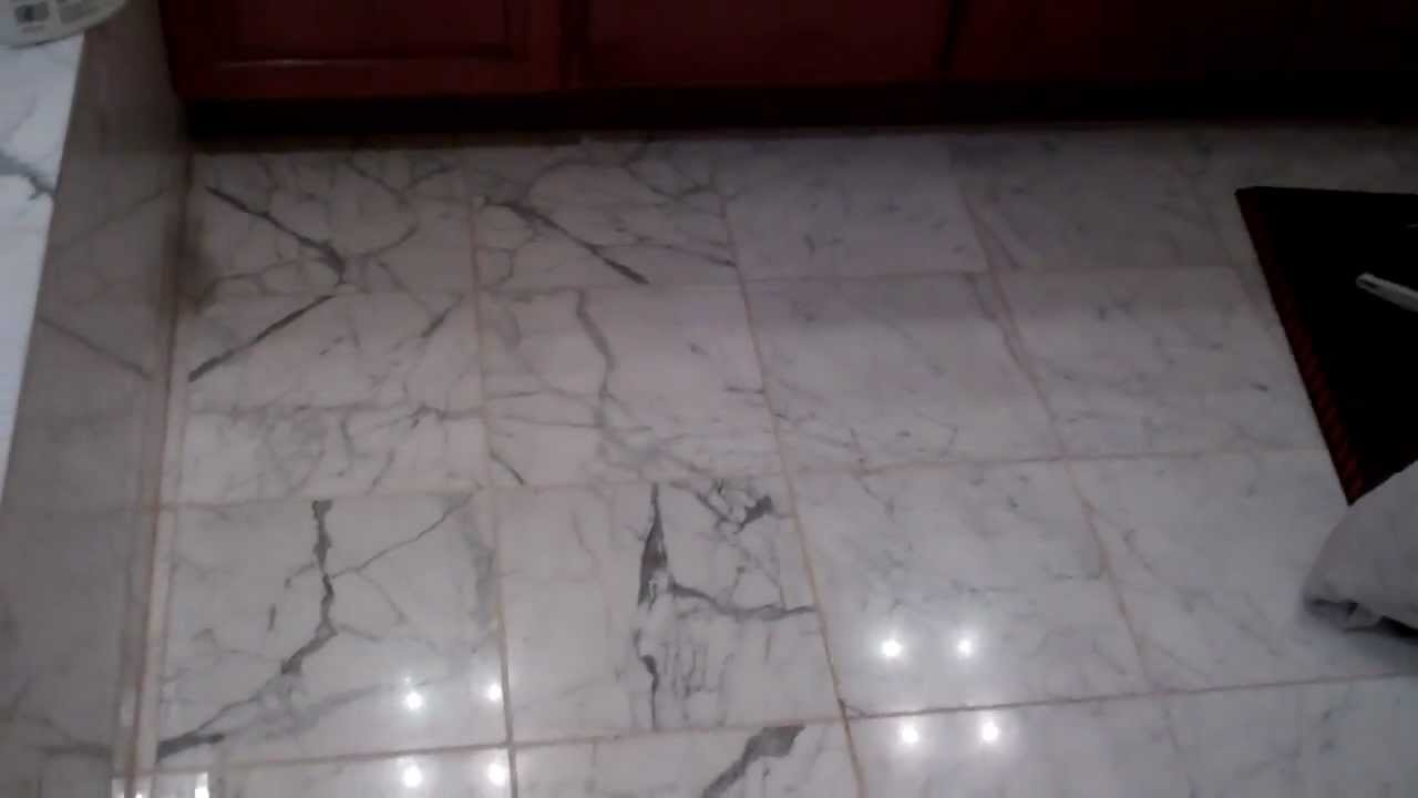 Marble Floor Grout Replacement Youtube