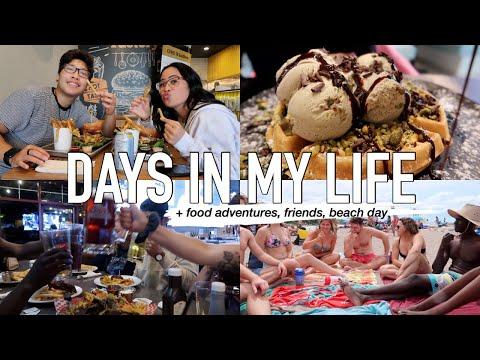 VLOG   weekend in my life, food adventures + beach day