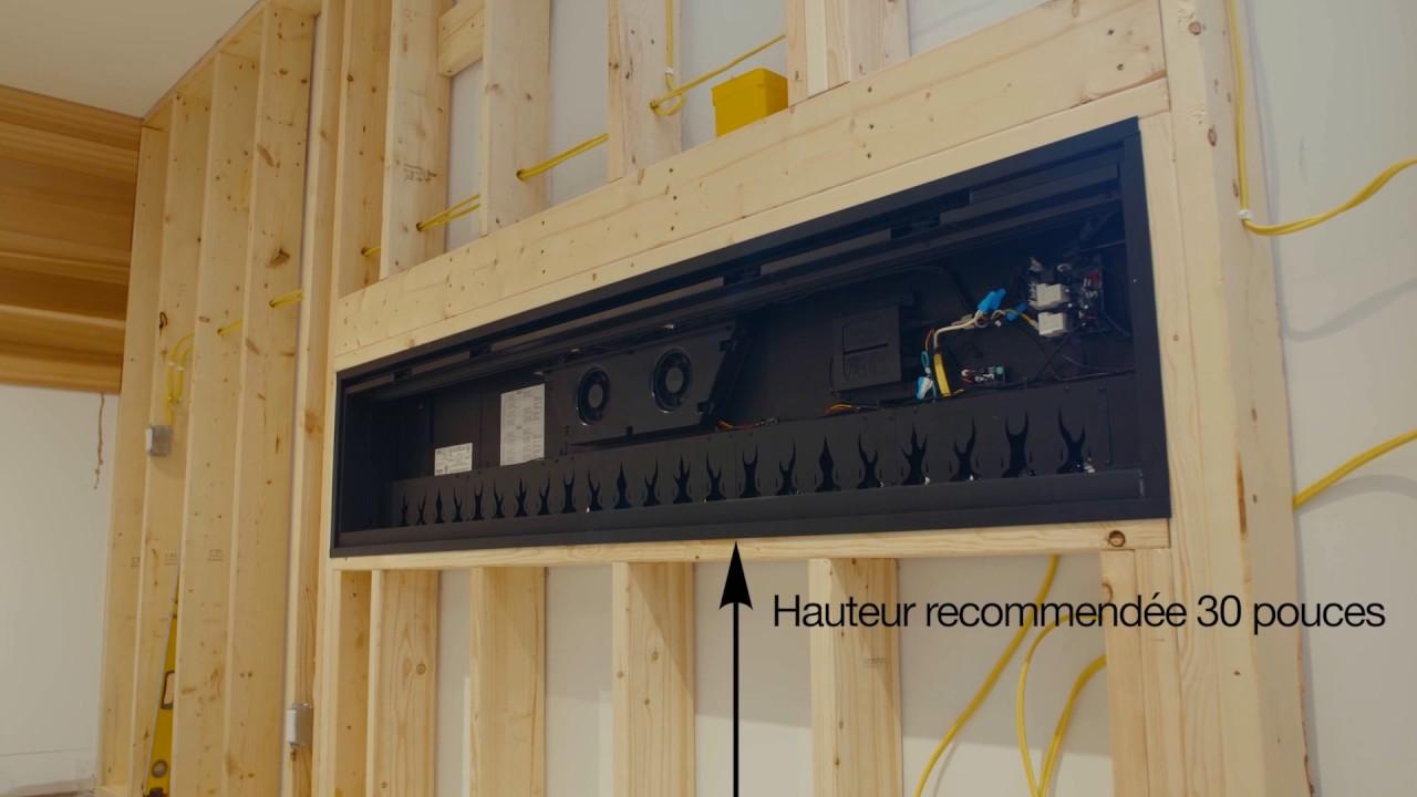 A Quelle Hauteur Mettre Une Tele Au Mur dimplex installation foyer électrique linéaire