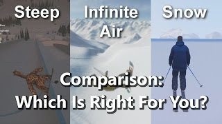 Steep vs. Infinite Air vs. Snow: Comparison and which is right for you!