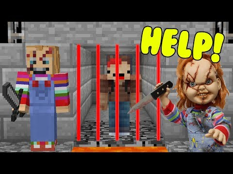 100% IMPOSSIBLE TO ESCAPE KILLER CHUCKY PRISON IN MINECRAFT TROLL + ROLEPLAY!